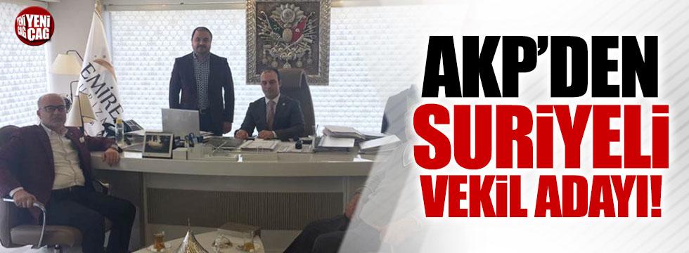 AKP'de Suriyeli milletvekili aday adayı