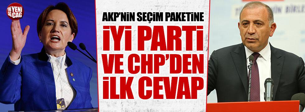İYİ Parti ve CHP'den AKP'nin seçim paketine tepki