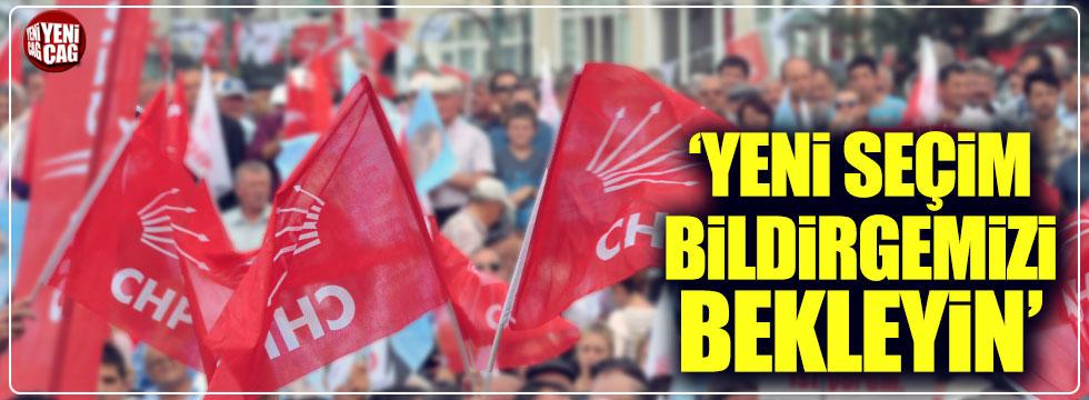 CHP'den yeni seçim bildirgesi açıklaması