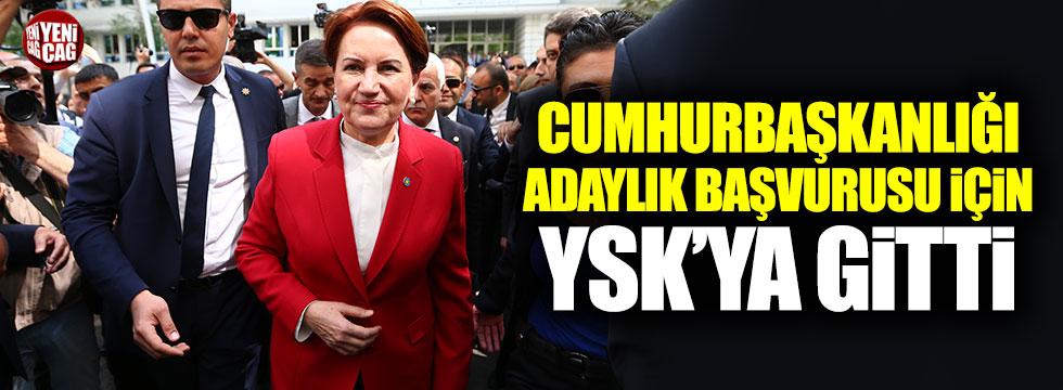 Meral Akşener adaylık başvurusu için YSK'ya gitti