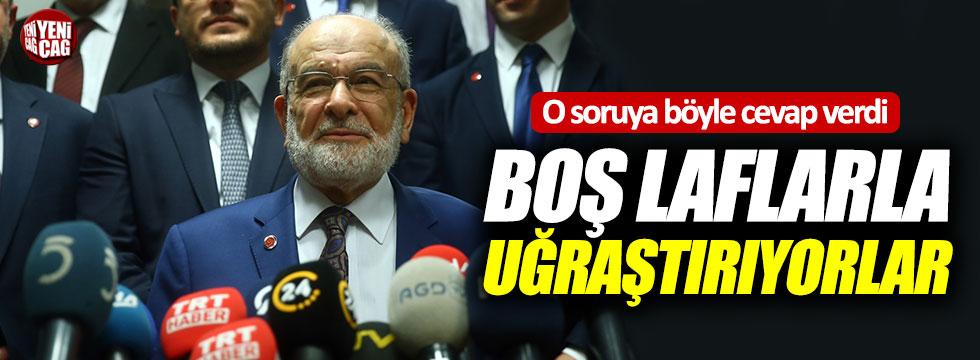 """Karamollaoğlu: """"Boş laflarla bizi uğraştırıyorlar"""""""