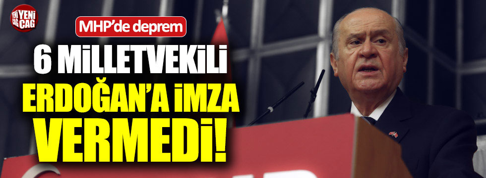 MHP'de Erdoğan depremi