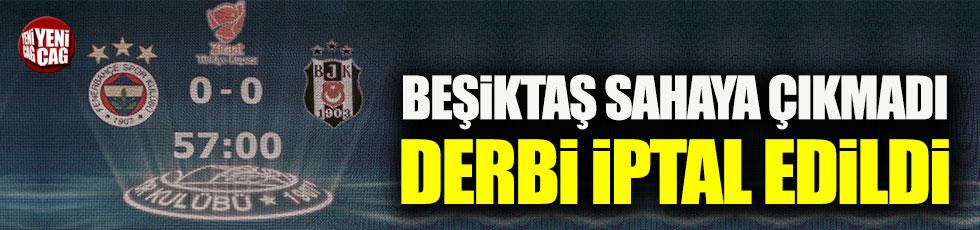 Beşiktaş sahaya çıkmadı