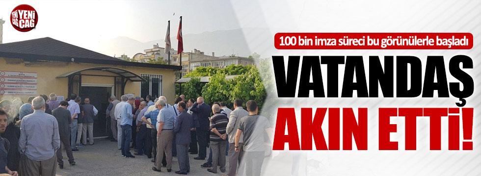 Vatandaşlar 100 bin imza için seçim merkezlerini akın etti