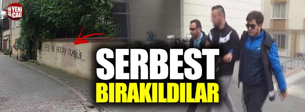 Akşener'e tehdit yazısı yazanlar serbest bırakıldı