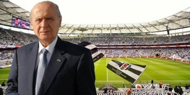 Beşiktaşlı taraftarlardan Bahçeli'ye tepki