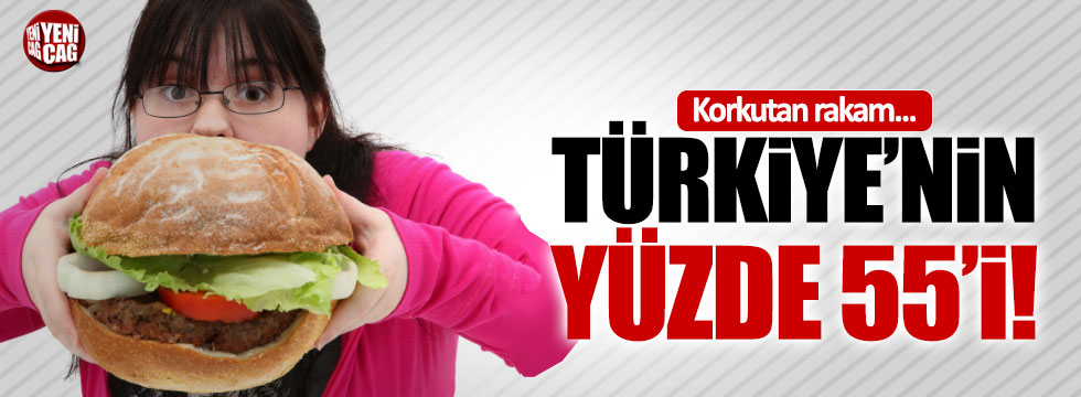 Türkiye'nin yüzde 55'i obez ya da kilolu