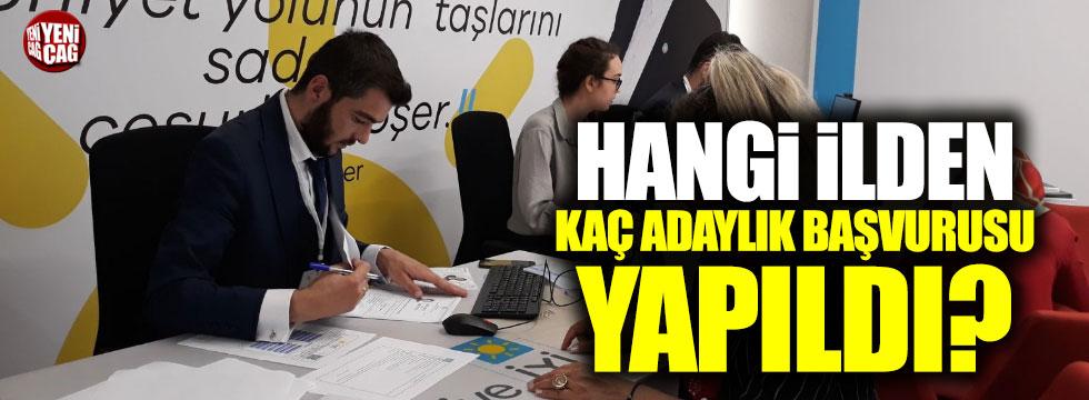 İYİ Parti'de hangi şehirden kaç kişi aday adayı oldu?