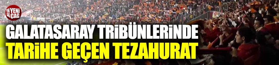 Galatasaraylı taraftarlardan Aziz Yıldırım tezahuratı