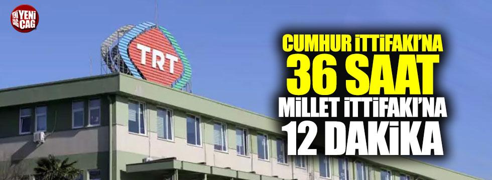 Cumhur İttifakı'na 36 saat Millet İttifakı'na 12 dakika