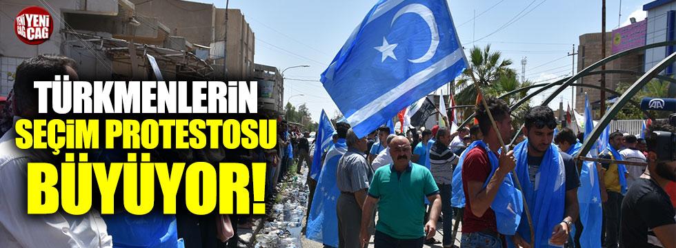Irak'ta Türkmenlerin seçim protestosu büyüyor