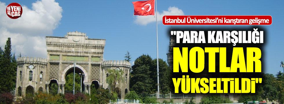 İstanbul Üniversitesi'nde para karşılığı not iddiası