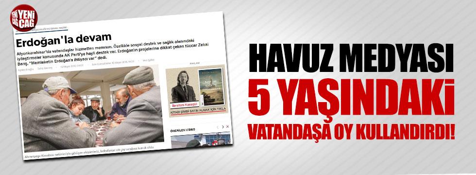 Havuz medyası 5 yaşındaki vatandaşa oy kullandırdı!