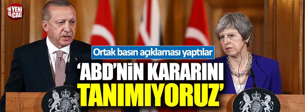 Erdoğan: ABD'nin kararını tanımıyoruz