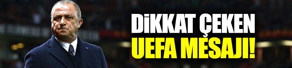Fatih Terim'den UEFA paylaşımı