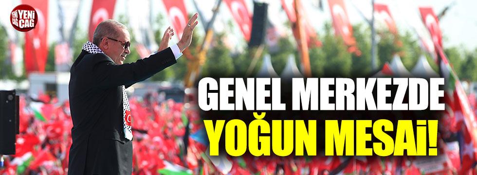 Erdoğan yoğun aday mesaisinde