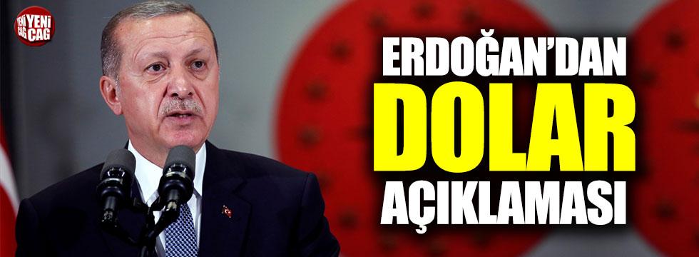 Erdoğan'dan dolar açıklaması