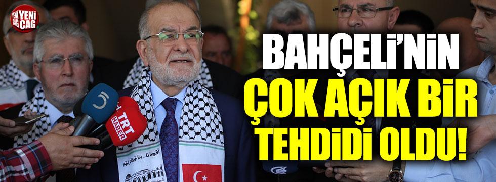 """Karamollaoğlu: """"Bahçeli'nin çok açık bir tehdidi oldu"""""""