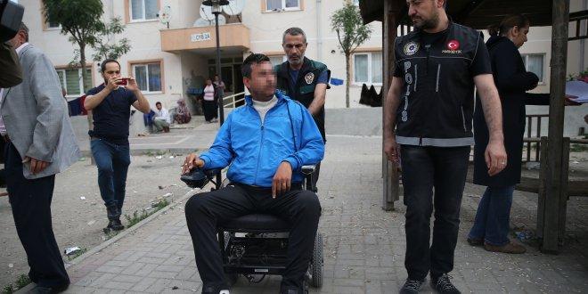 Tekerlekli sandalyede uyuşturucu sattığı iddiası...