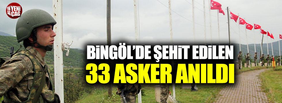 PKK'lı teröristlerin şehit ettiği 33 asker anıldı