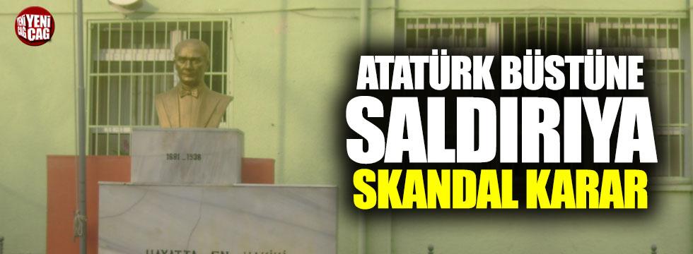 Atatürk büstüne saldırıya ceza yok!