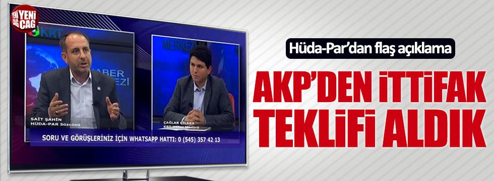 Hüda-Par: AKP'den ittifak teklifi aldık
