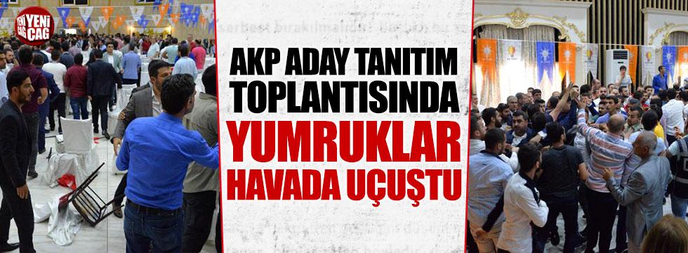 AKP aday tanıtım toplantısında arbede