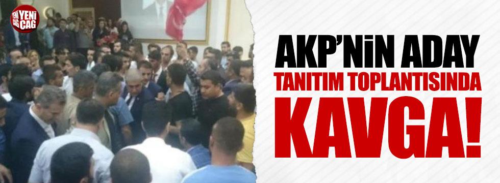 AKP'nin aday tanıtım toplantısında kavga!