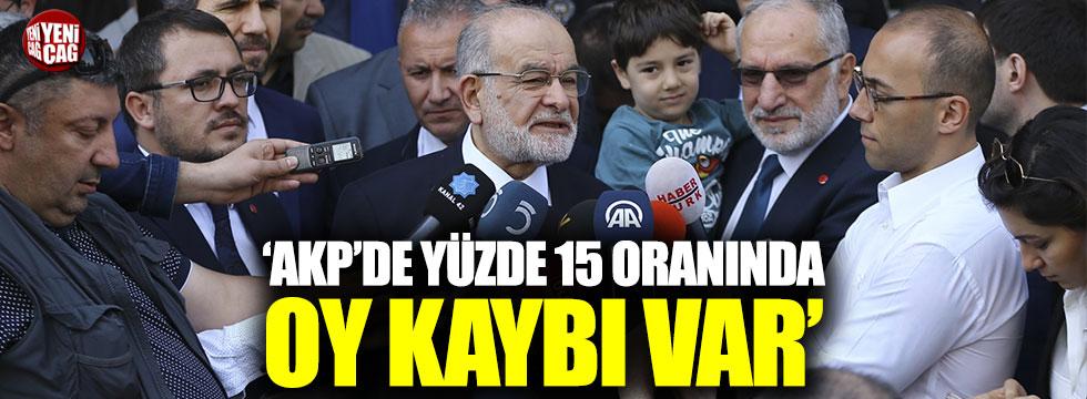 Karamollaoğlu: AKP'de yüzde 15 oy kaybı var