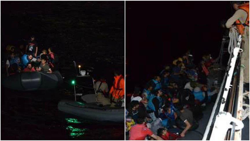 Ege Denizi'nde 115 kaçak yakalandı