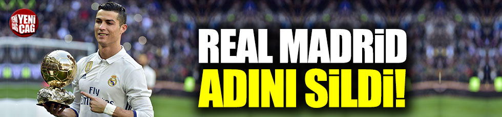 Real Madrid Ronaldo'nun ismini sildi