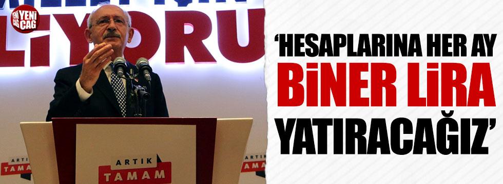 Kılıçdaroğlu: Yoksul ailelere her ay bin TL yatıracağız