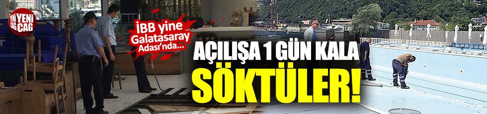 Galatasaray Adası'nda yine yıkım