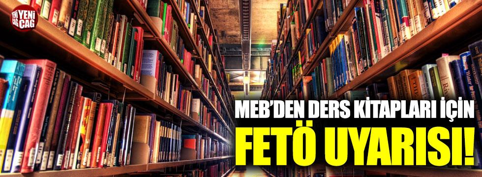 MEB'den ders kitapları için FETÖ uyarısı!