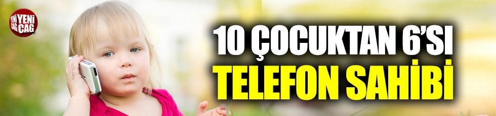 Her 10 çocuğun 6'sı akıllı telefon sahibi