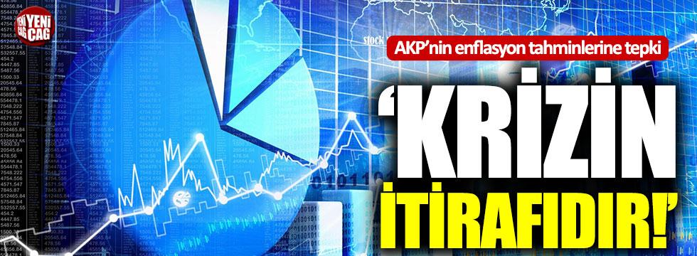 """AKP'nin enflasyon tahminlerine tepki: """"Krizin itirafıdır"""""""