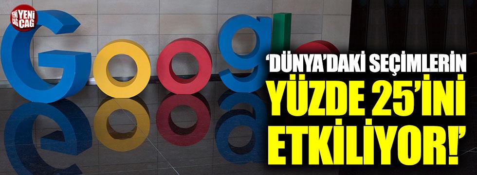 """""""Google, dünyadaki seçimlerin yüzde 25'ini etkiliyor"""""""
