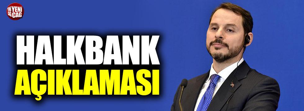 Berat Albayrak'tan Halkbank açıklaması