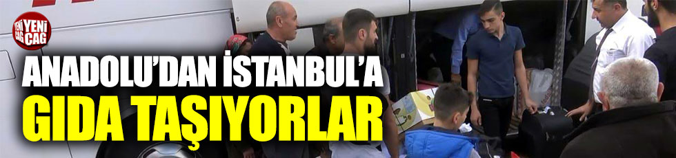 Anadolu'dan İstanbul'a yolcudan çok gıda getiriyorlar