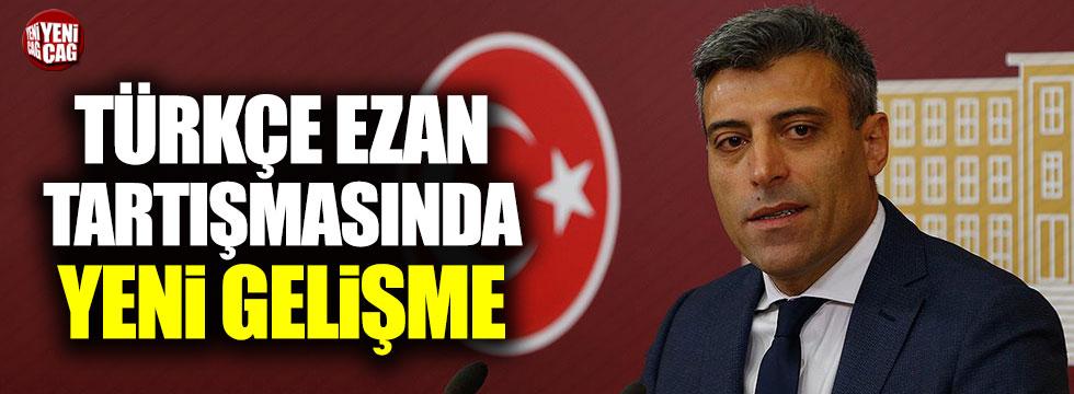 Öztürk Yılmaz'dan Türkçe ezan tartışmalarıyla ilgili açıklama