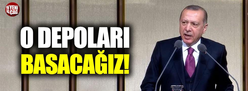 """Erdoğan: """"Stokların yapıldığı depoları basacağız"""""""