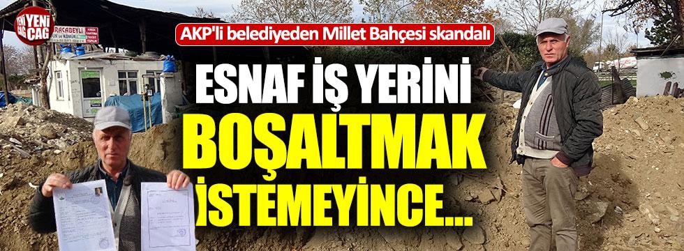 AKP'li belediyeden Millet Bahçesi skandalı