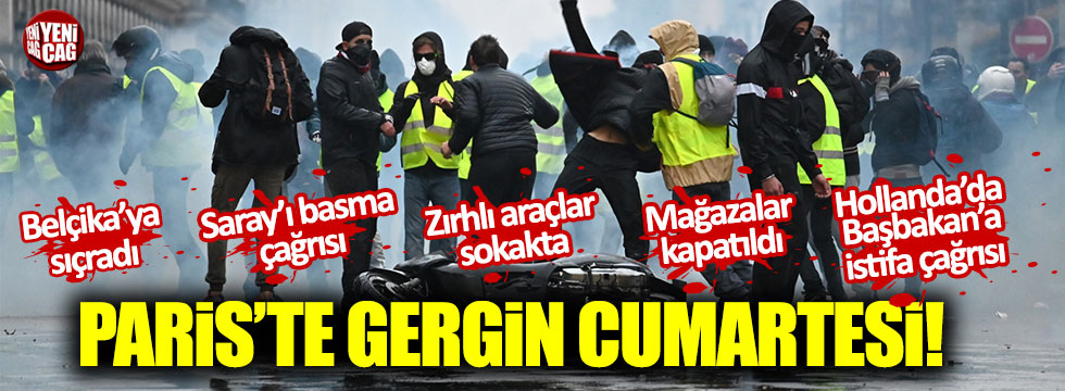 Binlerce sarı yelekli gözaltında!