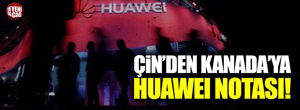 Çin'den Kanada'ya nota!