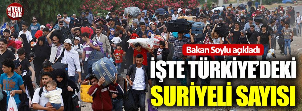 Bakan Süleyman Soylu, Türkiye'deki Suriyelilerin sayısını açıkladı