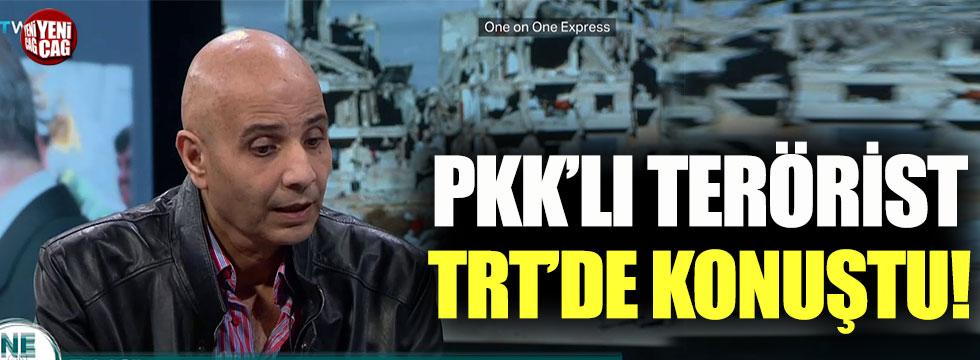 PKK'lı terörist TRT'de konuştu