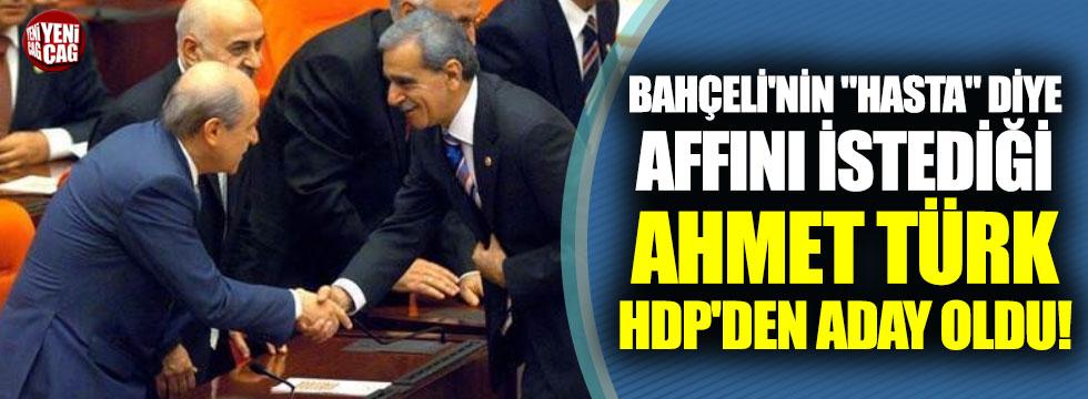 Devlet Bahçeli'nin sahip çıktığı Ahmet Türk, HDP'den aday oldu