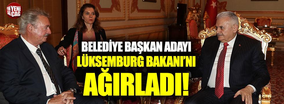 Belediye başkanı adayı Lüksemburg Bakanı'nı ağırladı