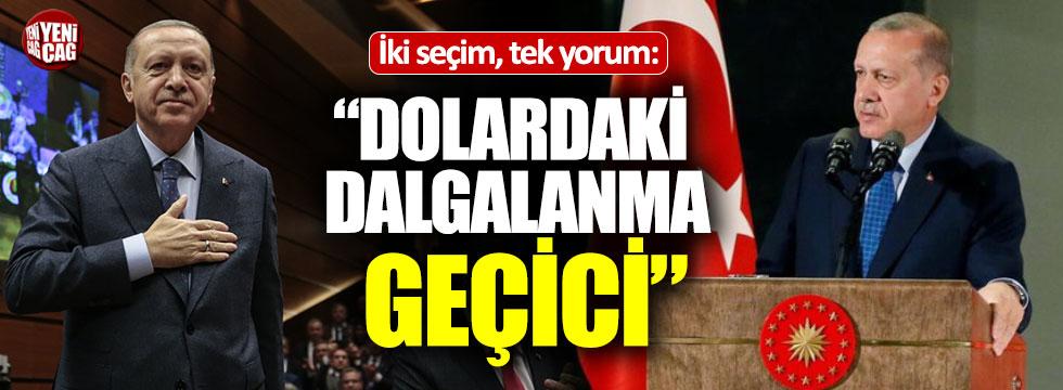 """Erdoğan'dan dolar için yine aynı yorum: """"Geçici"""""""