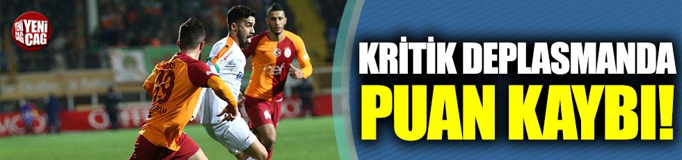 Galatasaray, Alanya'da puan kaybetti